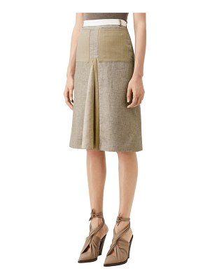 Burberry tape detail a-line skirt