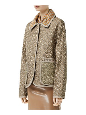 Burberry TB Logo Silk Quilted Jacket