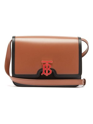 Burberry tb medium leather cross body bag