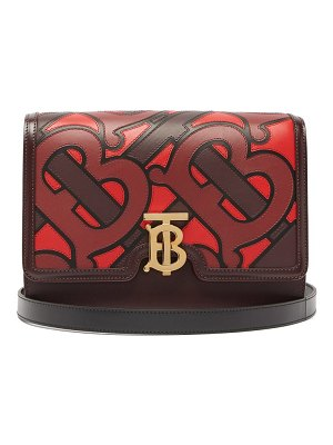 Burberry tb medium monogram appliqué leather cross body bag