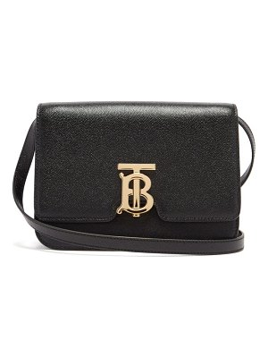 Burberry tb monogram grained-leather cross-body bag