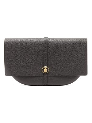 Burberry tb-monogram leather clutch