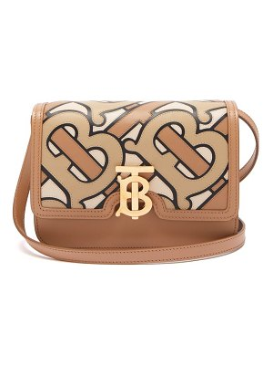Burberry tb monogram leather cross body bag