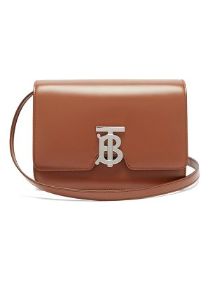 Burberry tb monogram leather cross-body bag