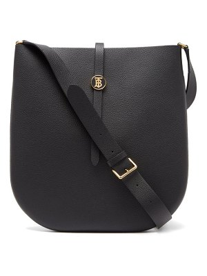 Burberry tb-monogrammed grained-leather cross-body bag