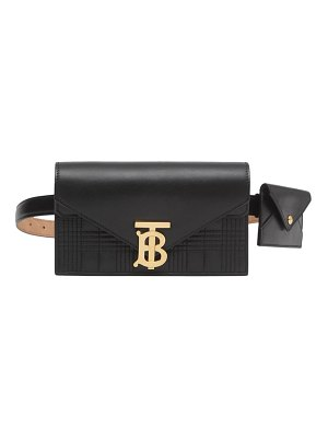 Burberry tb quilted leather envelope belt bag