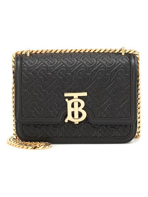 Burberry tb small leather shoulder bag