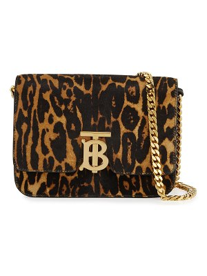 Burberry TB Small Leopard-Print Crossbody Bag
