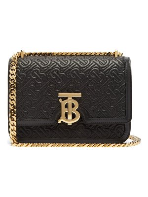 Burberry tb small monogram-matelassé leather cross-body bag