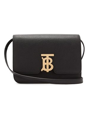 Burberry tb small pebbled leather cross body bag