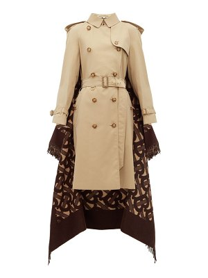 Burberry tb wool blend and cotton trench coat