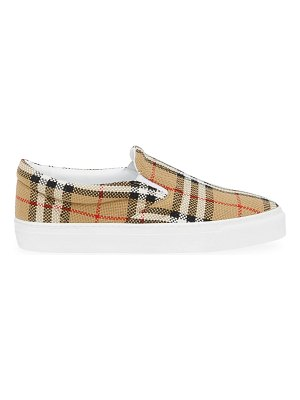 Burberry thompson canvas slip-on sneakers