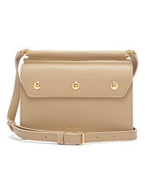 Burberry title mini grained-leather cross-body bag