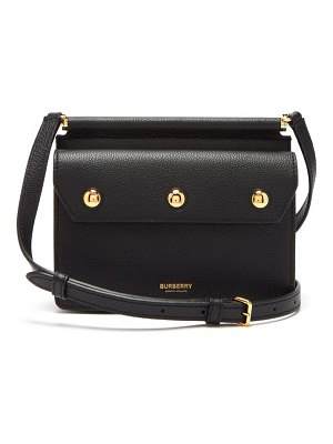 Burberry title mini leather cross body bag