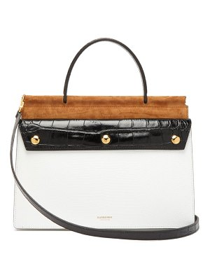 Burberry title panelled leather small bag