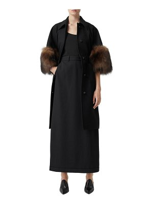 Burberry ursula skirt panel wool wide leg trousers
