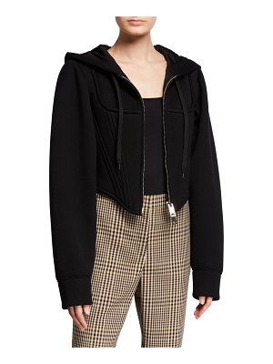 Burberry Very Cropped Corset Hoodie
