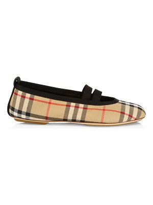 Burberry vintage check ballet flats