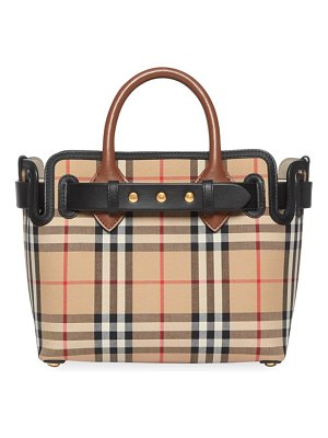 Burberry baby triple stud vintage check belt tote