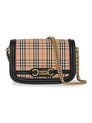 Burberry medium banner leather satchel