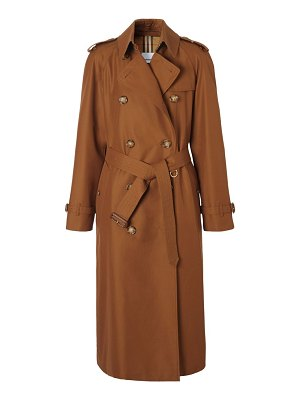 Burberry waterloo double breasted cotton gabardine trench coat
