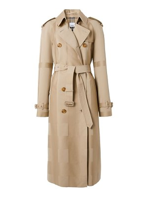 Burberry waterloo jacquard check trench coat