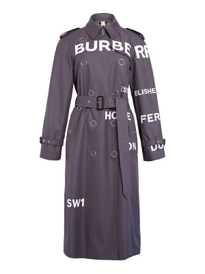 Burberry wharfbridge horseferry print cotton gabardine trench coat