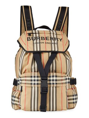 Burberry Wilfin Small Heritage Stripe Backpack