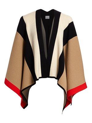 Burberry wool & cashmere knit cape
