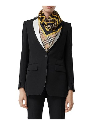 Burberry Natalie Wool Fitted Blazer