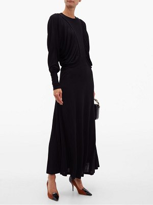 Burberry wynona gathered liquid jersey maxi dress
