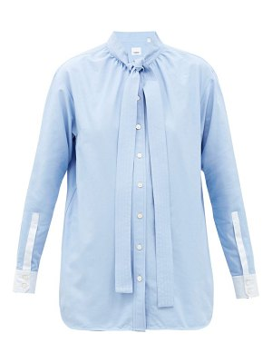 Burberry yolanda tie-collar cotton-poplin shirt