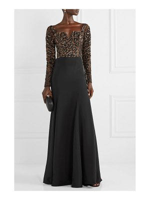 Burnett New York silk-jersey and embellished tulle gown