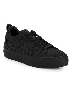 Buscemi Unisex Embossed Leather Low-Top Sneakers