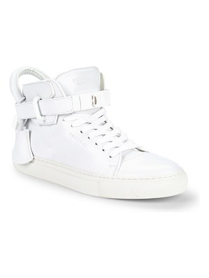 Buscemi Unisex Lace-Up Leather High-Top Sneakers