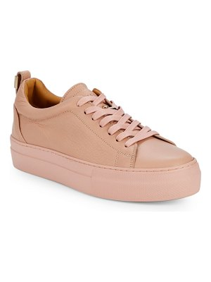 Buscemi Logo Leather Low-Top Sneakers