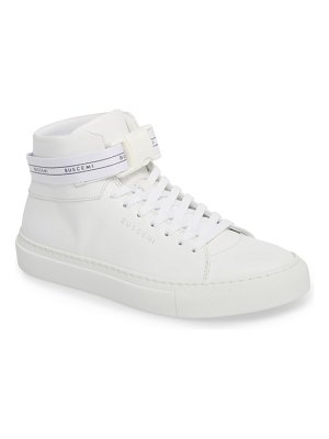 Buscemi logo strap high top sneaker