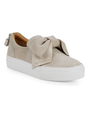 Buscemi Sparkling Suede Bow Slip-On Sneakers