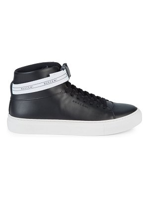 Buscemi Sport Leather High-Top Sneakers