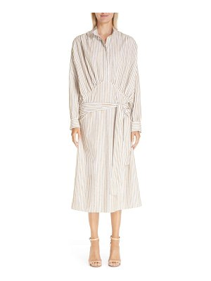 By Any Other Name belted blouson midi shirtdress