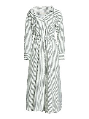 By Any Other Name falling off-the-shoulder shirtdress
