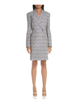 By Any Other Name glen plaid long sleeve blazer minidress