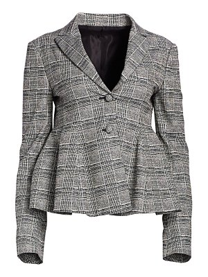 By Any Other Name glen plaid peplum blazer