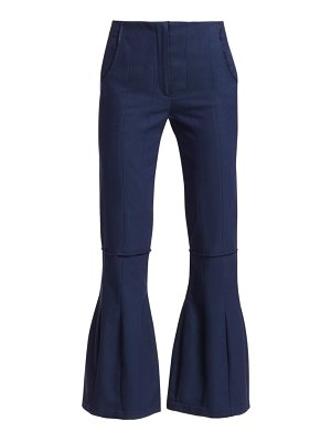 By Any Other Name ribbed cotton godet flared pants