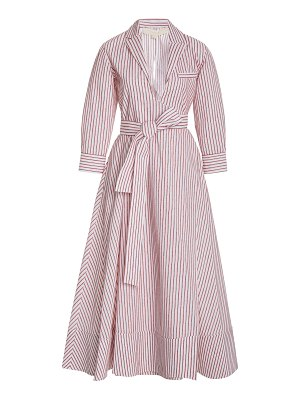 By Any Other Name striped belted cotton wrap dress
