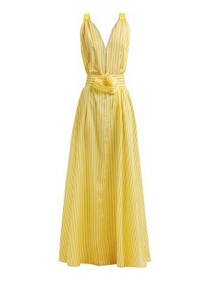 BY. BONNIE YOUNG batisse yellow stripe v neck maxi dress