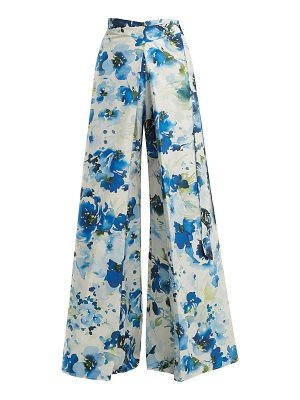 BY. BONNIE YOUNG By. Bonnie Young - Floral Print Wide Leg Cotton Blend Wrap Trousers