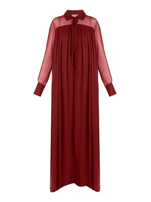 BY. BONNIE YOUNG long-sleeved silk-chiffon gown
