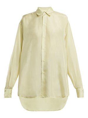 BY. BONNIE YOUNG By. Bonnie Young - Point Collar Silk Crepe De Chine Shirt