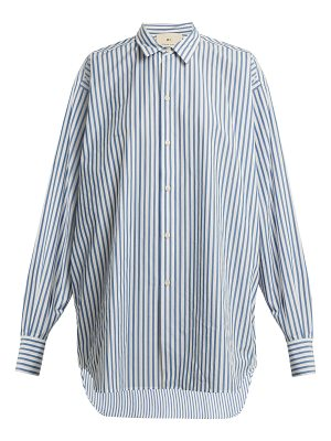 BY. BONNIE YOUNG Striped point-collar cotton shirt